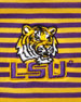 LSU Tigers Gameday College Shirt Polo, Striped
