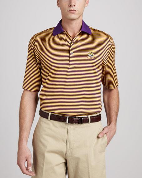 Peter Millar LSU Tigers Gameday College Shirt Polo, Striped