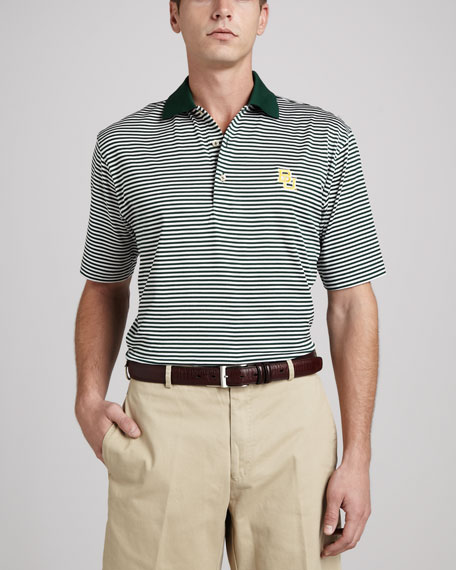 Baylor Gameday College Shirt Polo, Striped