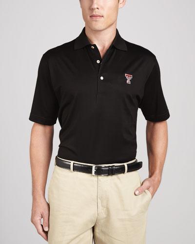 Peter millar texas tech gameday college shirt polo black for Peter millar polo shirts
