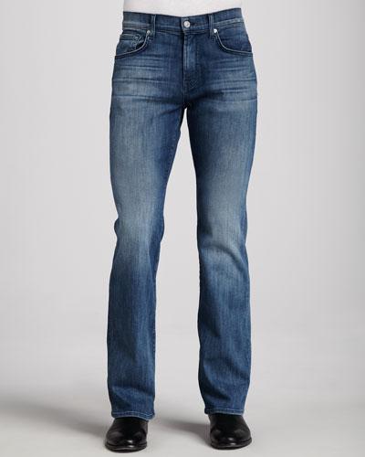 7 For All Mankind Luxe Performance: Brett Nakkitta Blue Jeans