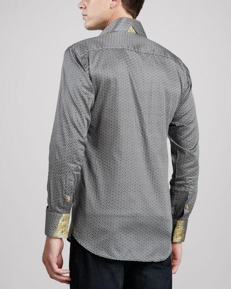 Peter Sateen Sport Shirt, Black