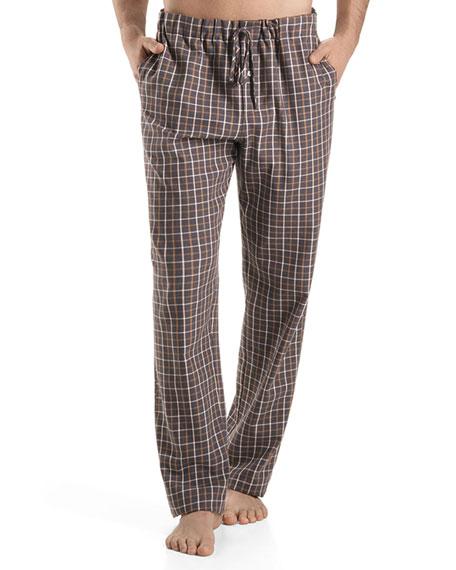 Edward Woven Check Pajama Pants, Gray