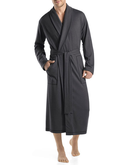 Humphrey Shawl-Collar Robe, Black Steel