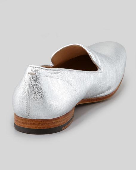 Men's Embossed Skull Loafer, Silver