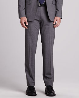 Theory Kody Wool Pants, Charcoal