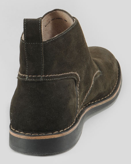 Dorchester Burnished Suede Chukka, Dark Green