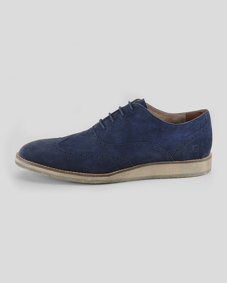 Rockwood Suede Lace-Up Shoe, Navy