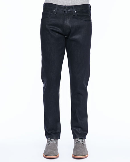 Tyler Narrow-Leg Jean, Coated Elixir
