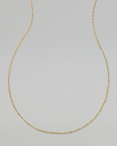 Men's 18K Gold Chain Necklace, 24""