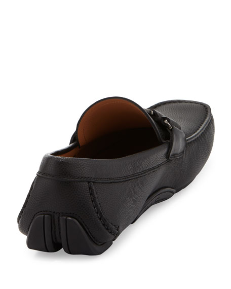 Pebbled Calfskin Vara Driver, Black