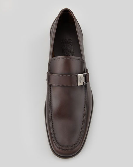 Leather Buckle Loafer