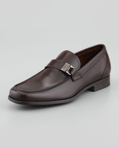 Salvatore Ferragamo Tazio Leather Buckle Loafer