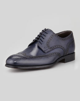 Boss Hugo Boss Savois Wing-Tip Lace-Up Shoe, Navy