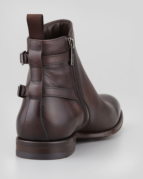Savan Buckle Chelsea Boot, Dark Brown