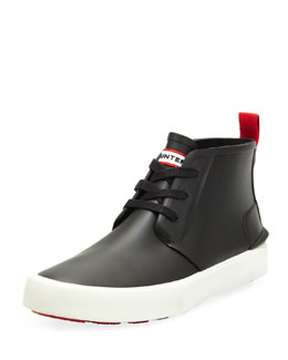Hunter Boot Bakerson Lace-Up Rubber High-Top, Black