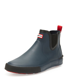 Hunter Boot Daleton Short Rubber Boot, Navy