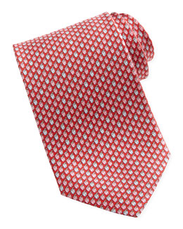 Salvatore Ferragamo Chili Pepper Silk Tie, Red