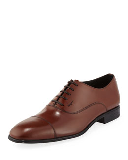 Salvatore Ferragamo Remigio Cap-Toe Oxford, Brown