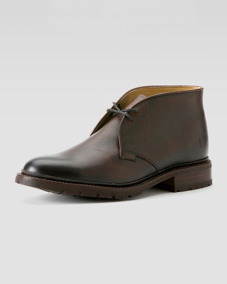 Frye James Lug Chukka Dark Brown