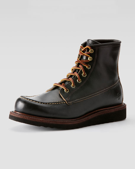 frye dakota wedge boot black