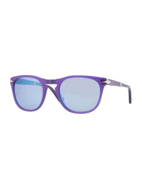 Plastic Folding Sunglasses, Blue Curacao
