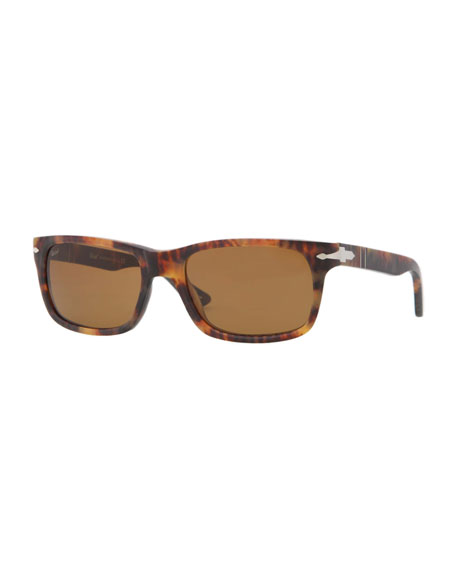 Rectangular Plastic Sunglasses, Caffe Antique