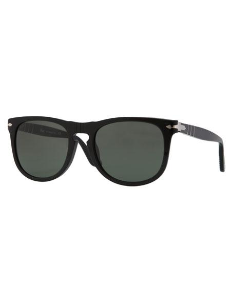 Round Frame Sunglasses, Terra Di Siena