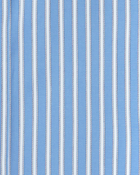 Rope-Stripe Woven Dress Shirt, Blue