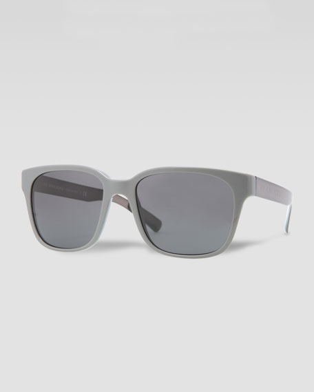 Square Logo-Arm Sunglasses, Gray