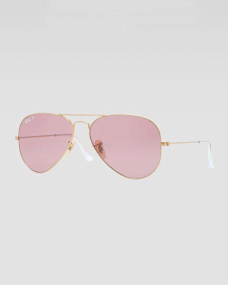 Original Aviator Sunglasses, Gold/Pink