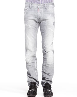 Dsquared2 Distressed Dean Denim Jeans, Gray
