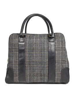 Sandast Bahamas Plaid Traveler Bag, Gray
