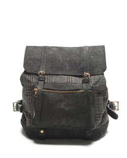 Sandast Westwood Plaid Backpack, Gray