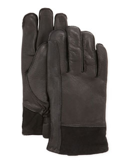 UGG Australia Men's Gibson Leather Gloves, Black