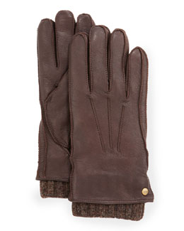 UGG Australia Men's 2-in-1 Whipstitch Gloves, Brown