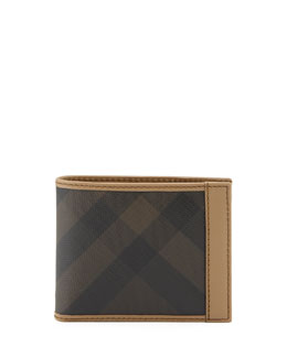 Burberry Bordered Check Hip-Fold Wallet