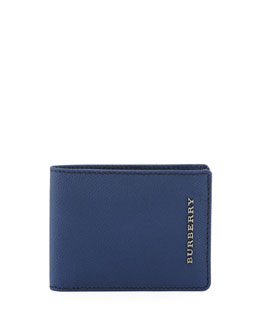 Burberry London Pebbled Bi-Fold Wallet
