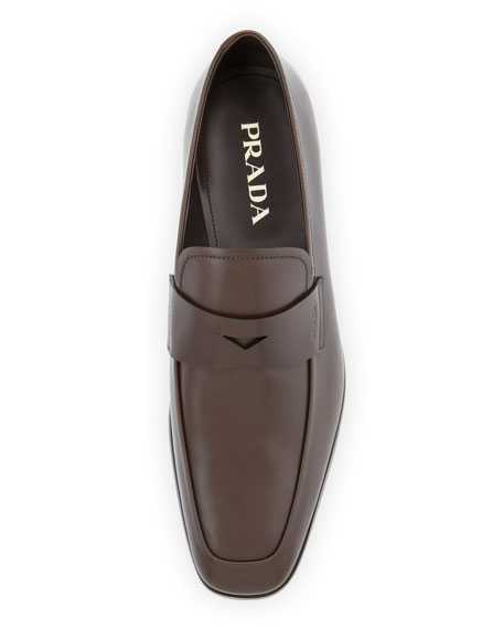 Smooth-Leather Penny Loafer, Brown