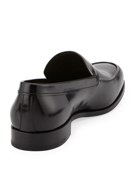 Spazzolato Venetian Loafer, Black