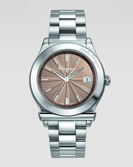 1898 Stainless Bracelet 3-Hand Watch, Mink Dial