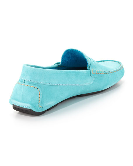 Men's Roadster Suede Driver Loafer, Turquoise