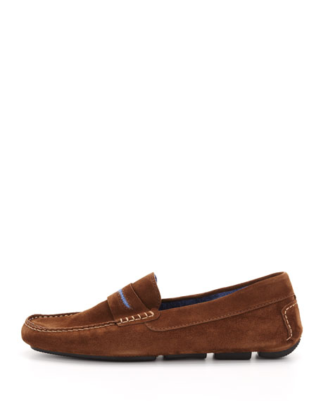 Men's Roadster Suede Driver Loafer, Brown/Blue