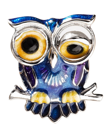 Winking Owl Lapel Pin