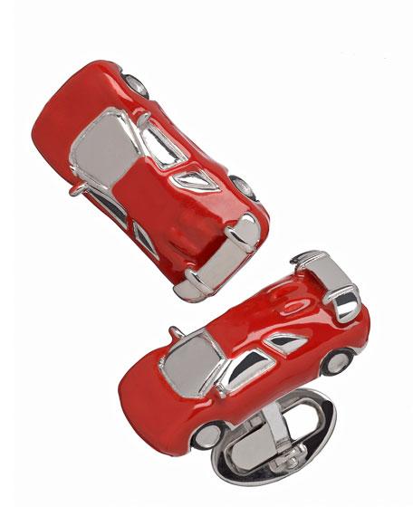 RED FAST CAR CUFFLINKS