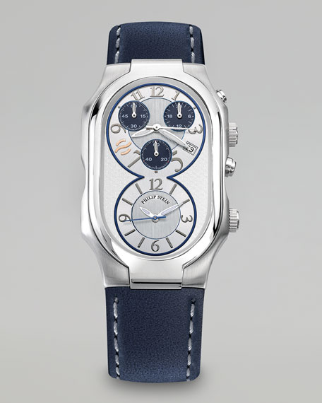 Men's Signature Stainless Steel Watch with Chronograph Dials, Navy