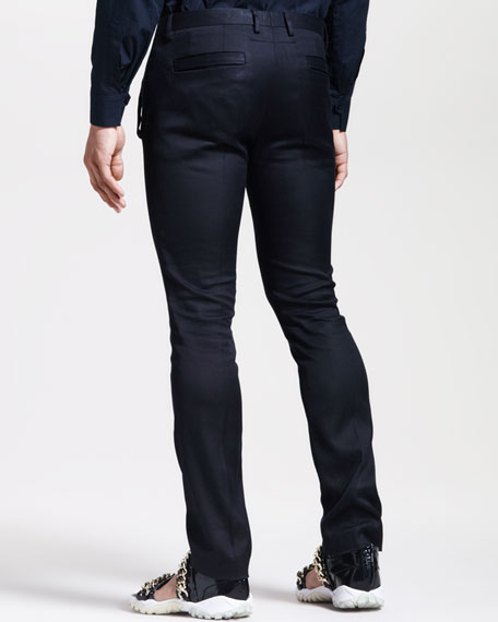 Skinny Slit-Pocket Pants