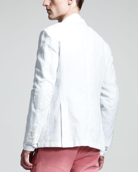 Garment-Dyed Cotton-Linen Blazer