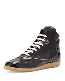 Maison Martin Margiela Contoured High-Top Sneaker, Black