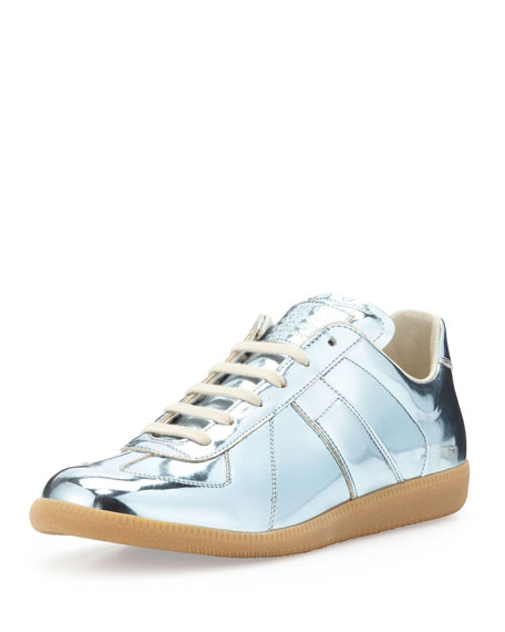 Maison margiela replica low top sneaker silver for Replica maison martin margiela